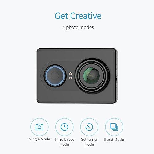 @Amazon YI Action Kamera gebündelt mit Wasserfestem Gehäuse 16MP 2K 1080P/60fps mit 2.4G WIFI Bluetooth 4.0 45,99 Eur