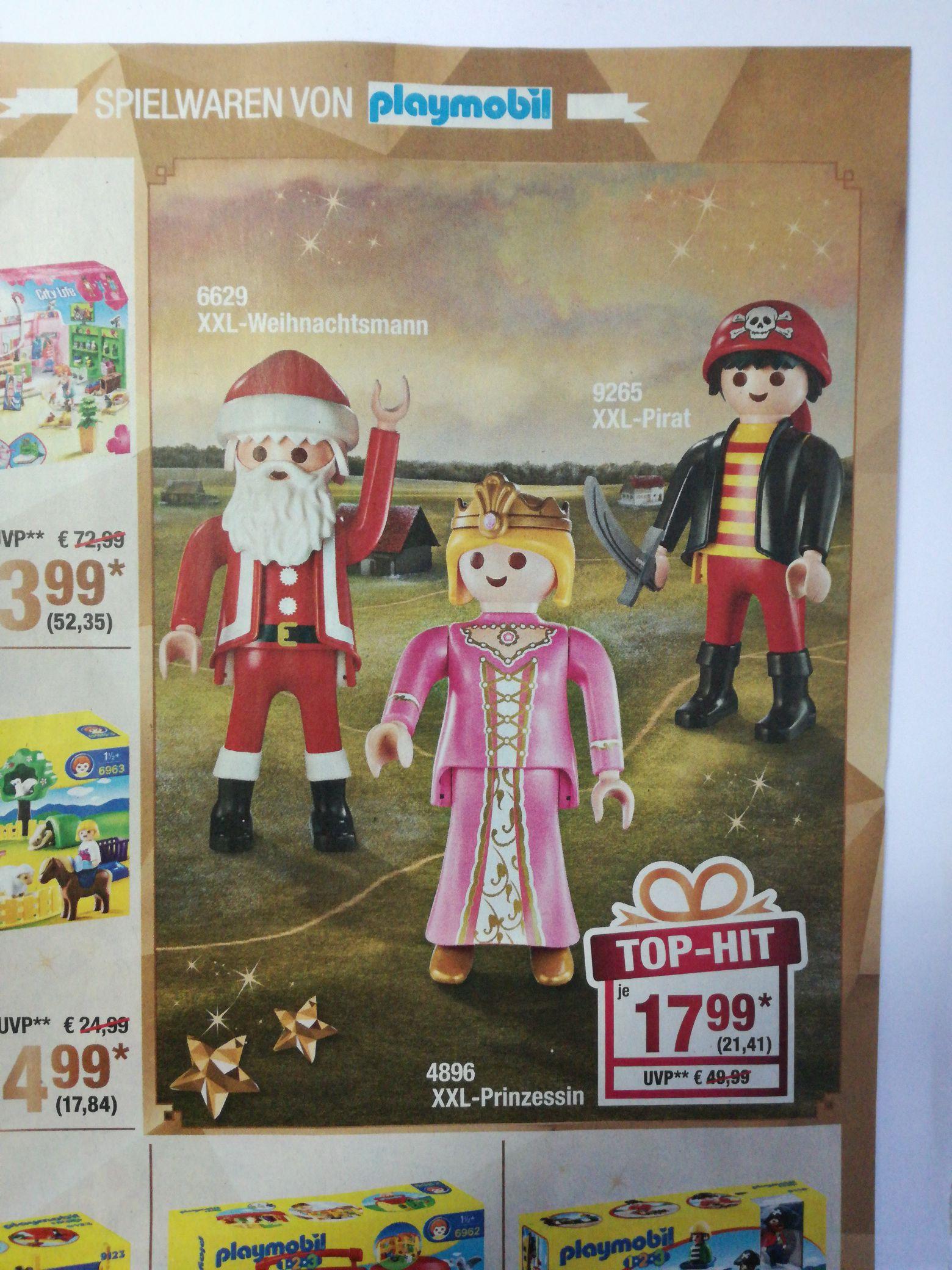 Playmobil XXL-Weihnachtsmann, XXL-Pirat, XXL-Prinzessin