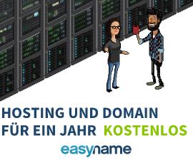 Geschenkt: Hosting mit 20 GB Webspace und Domain für ein Jahr