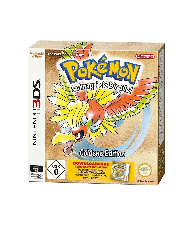 Pokemon Gold Edition (3DS) & Silber Edition (3DS) Download-Code in Box für je 7€ versandkostenfrei (Media Markt)