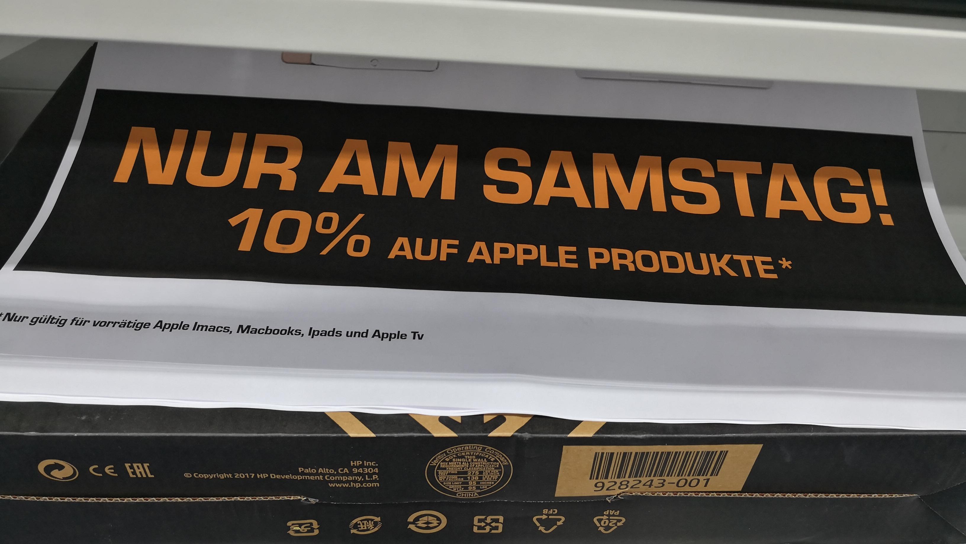 10%  auf alle Apple Produkte Saturn Karlsruhe