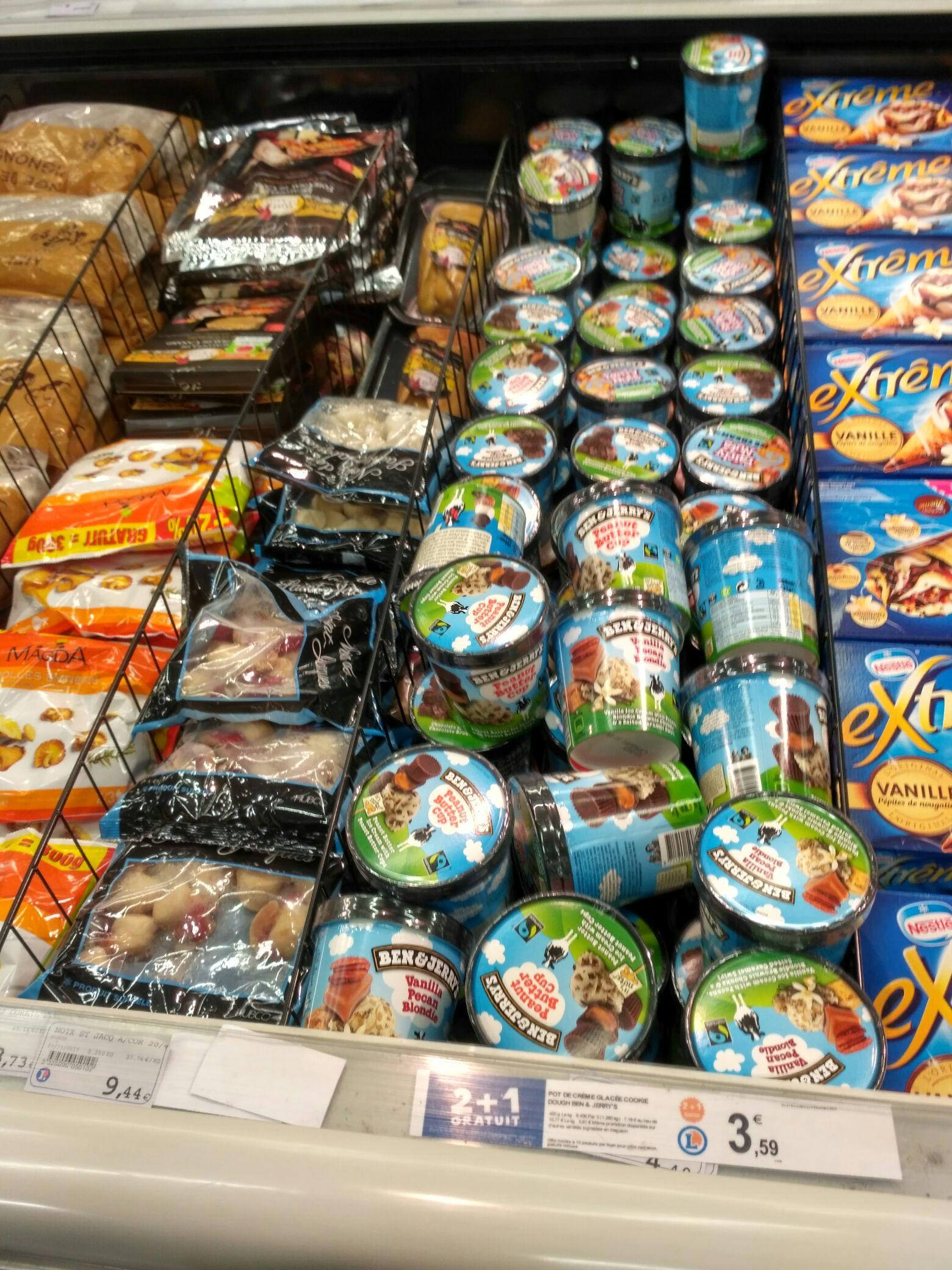[Lokal] Frankreich/Straßburg/Rivetoile/Leclerc. Top Angebot Ben & Jerry's Eis