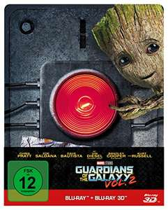 Guardians of the Galaxy Vol. 2 Steelbook Edition Limited Edition (3D + 2D Blu-ray) für 24,29€ (Amazon Prime)