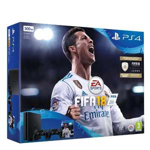 PS4 Slim 500GB, 2 Controller + FIFA 18