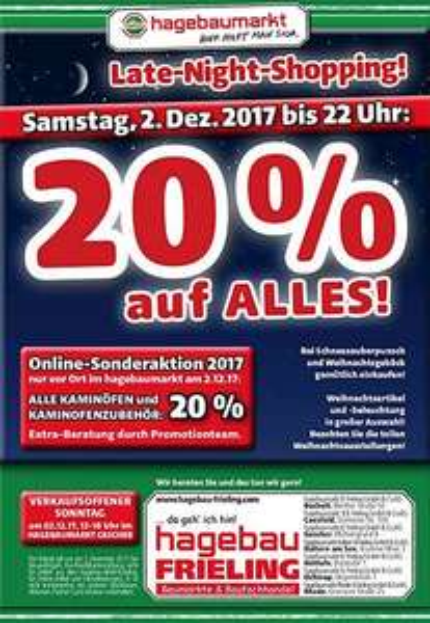 [Lokal Hagebaumarkt Coesfeld] 20 % auf alles am 02. Dezember