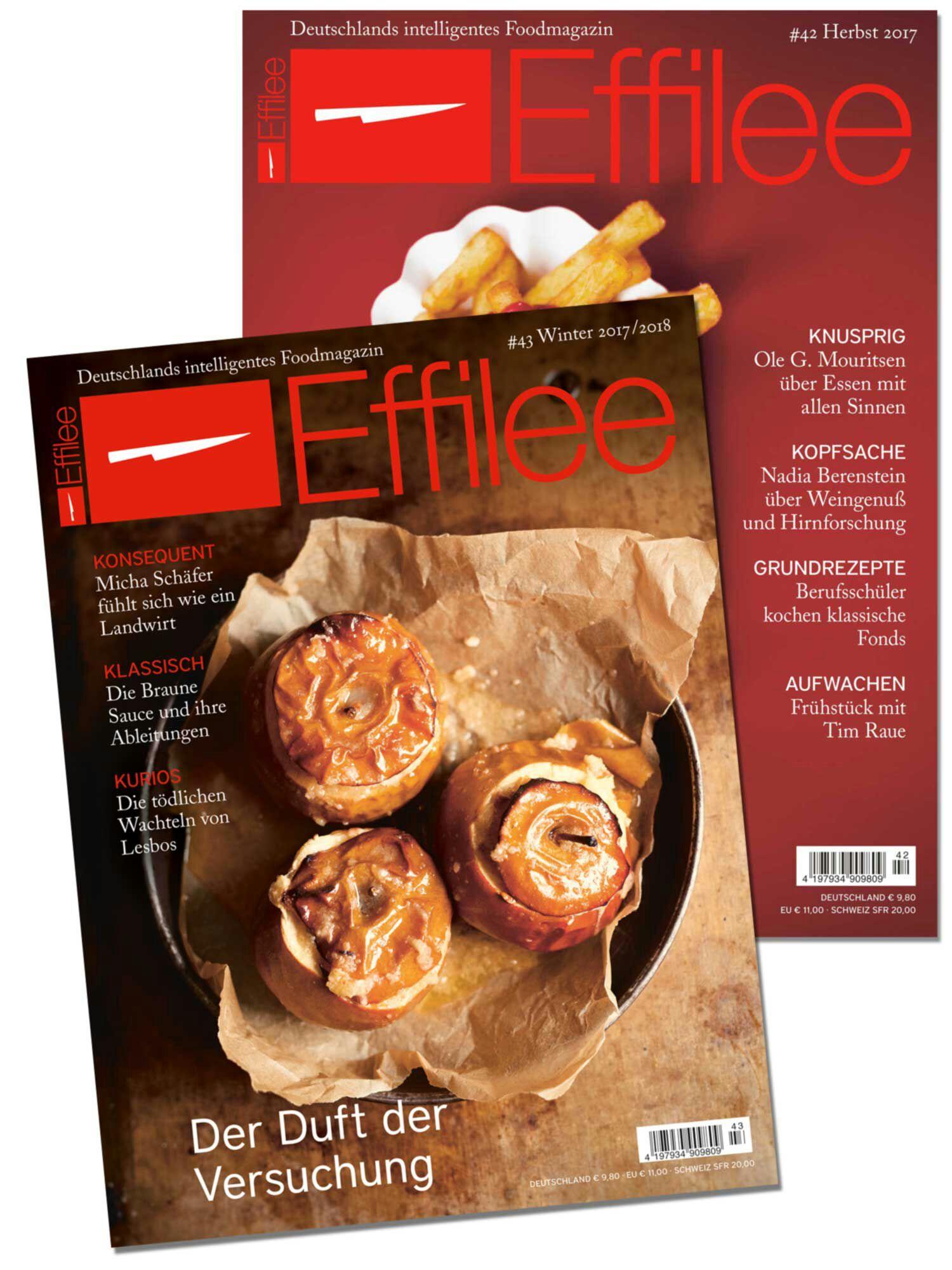 2 Ausgaben des Foodmagazin Effilee kostenlos. Kündigung notwendig