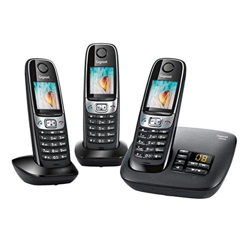 [amazon.fr] Gigaset C620A Trio (DECT-Telefon, 530h Standby, Adressbuch, Babyphone, Anrufbeantworter) in schwarz