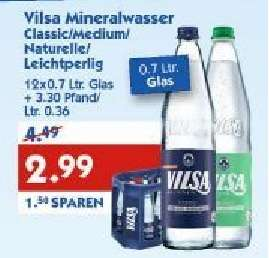[HOL'AB!] Lokal? Vilsa Brunnen Mineralwasser 12 x 0,7L Kasten für 2,99€ - Glasflaschen