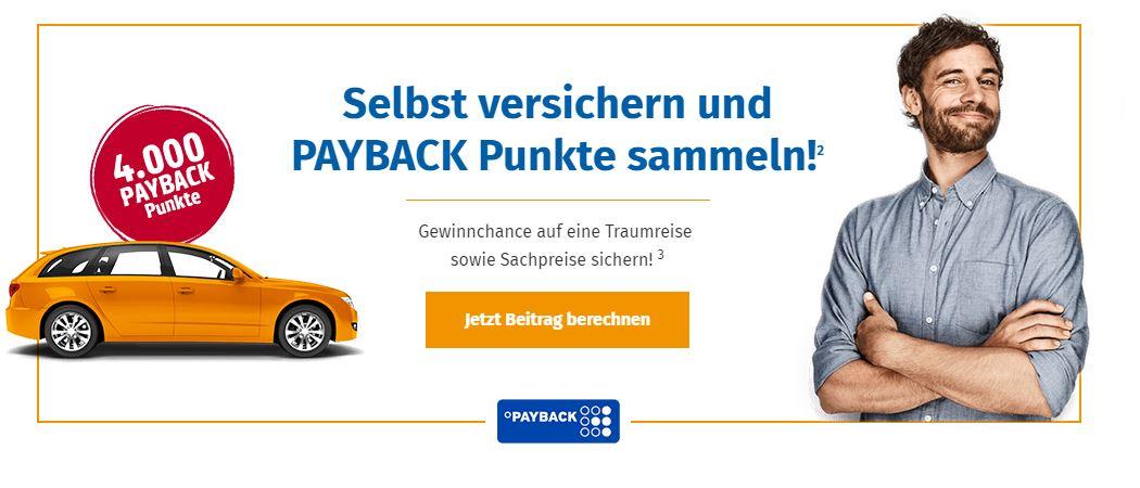 4.000 PAYBACK Punkte und zusätzlich Gewinnchance auf einen Reisegutschein (6000€) + 50x100€ Tankgutscheine bei Abschluss einer KFZ-Versicherung von AllSecur