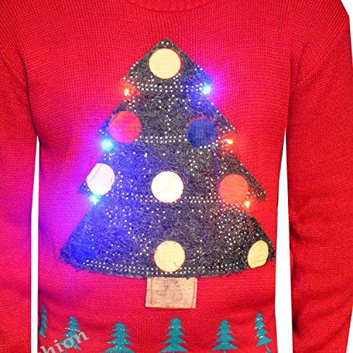 Lustiger und günstiger Weihnachtspulli - mit Beleuchtung!