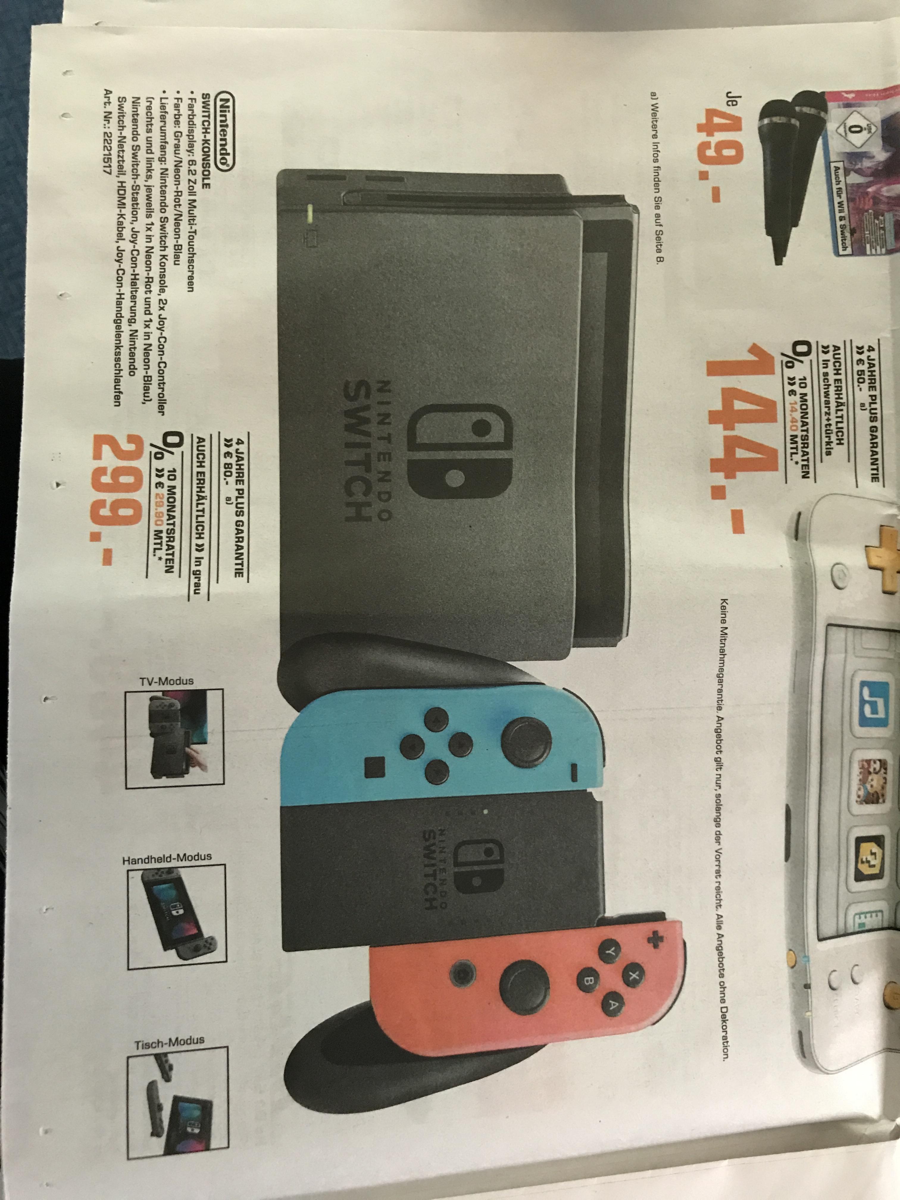Nintendo Switch in grau oder neon @Saturn Dortmund (nur Lokal?) / Super Mario für 35€