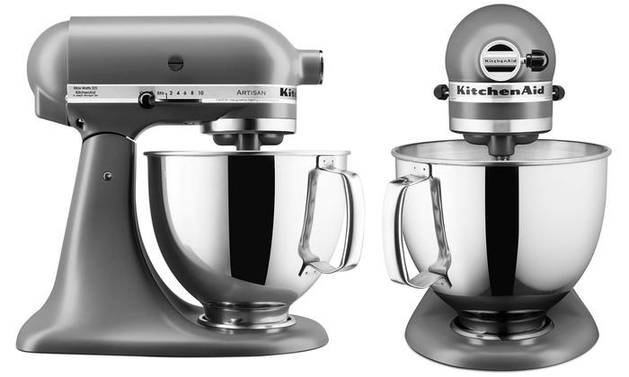 Kitchenaid Artisan weiß / grau 5KSM150PS bei Groupon
