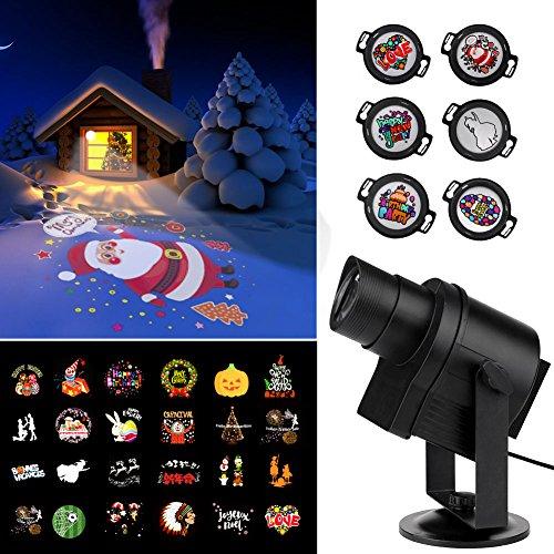 LED Projektionslampe IP65 für eigene Motive Weihnachten Halloween Hochzeit