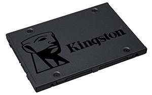 """Kingston A400 SSD 120GB SATA Solid State Drive (SSD) • Formfaktor: 2.5"""" • Schnittstelle: SATA 6Gb/s • lesen: 500MB/s • schreiben: 320MB/s • Speicherzellen: 2D-NAND TLC • Controller: Phison S11 - MTBF: 1 Mio. Stunden"""