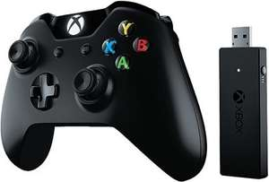 Xbox One Wireless Controller Schwarz inklusive PC-Adapter sowie Google Home Mini