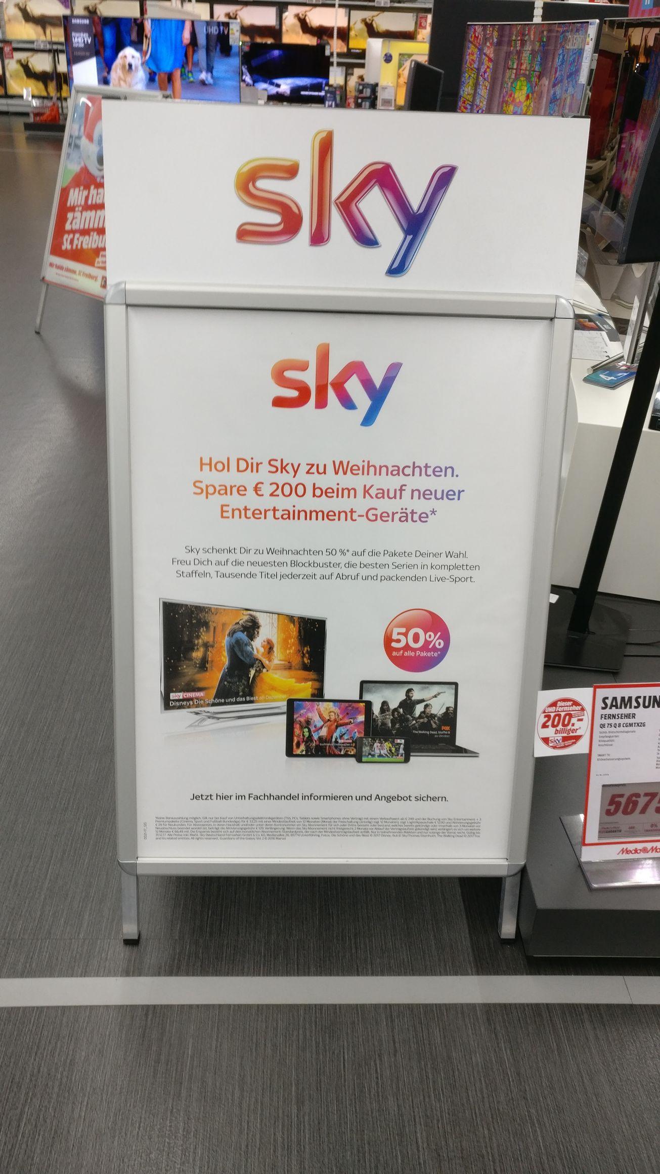 Lokal Media Markt Freiburg Sky Angebot Komplett Paket 35,99 Inkl. HD
