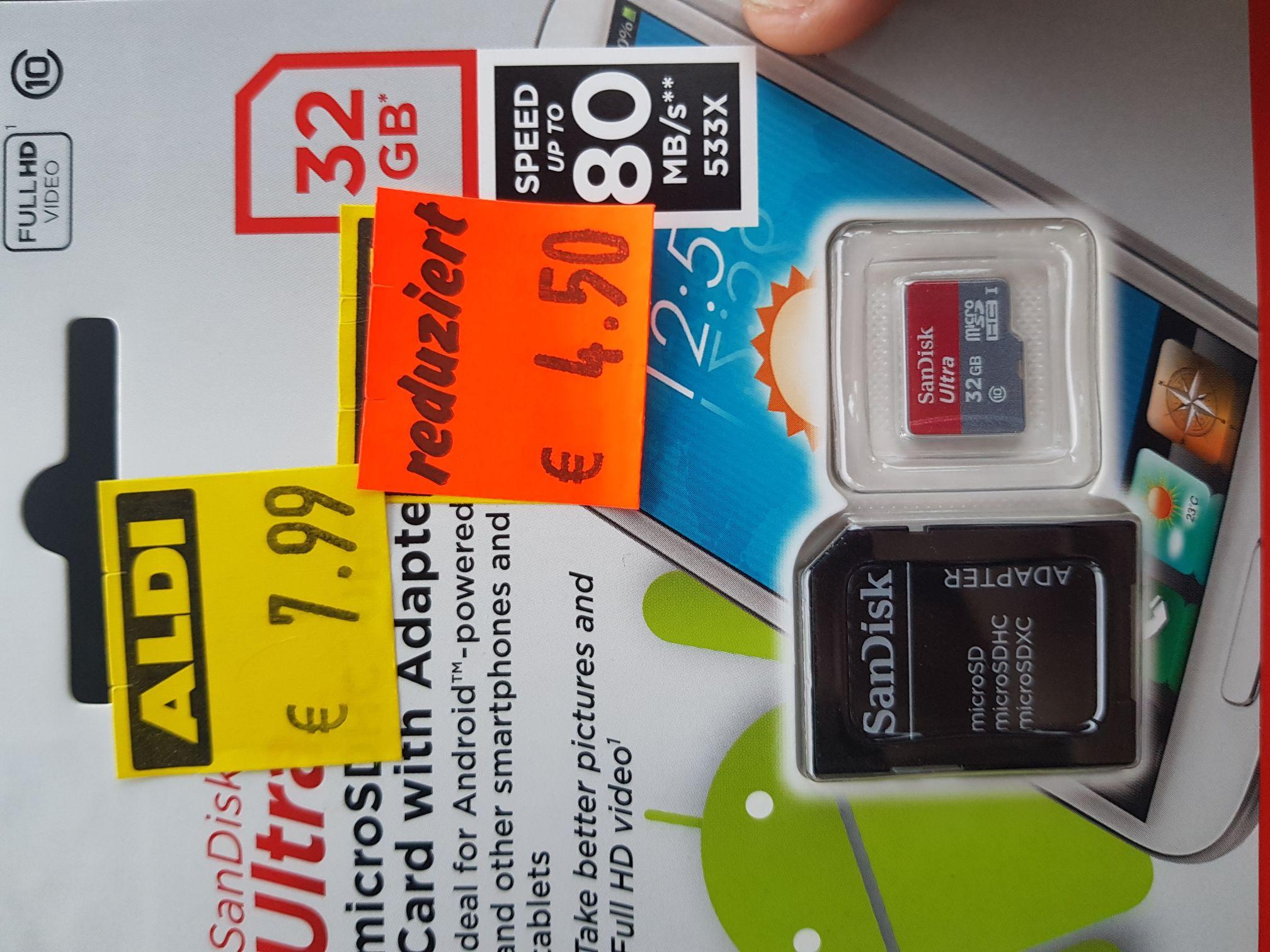 (Lokal)Aldi Stade SanDisk 32GB Micro SD