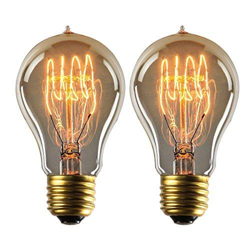(Amazon) Dimmbare Warmweiße Vintage Glühbirnen 2er Set E27er