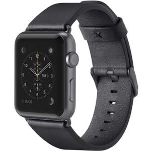 [Amazon] Belkin klassisches Lederarmband für Apple Watch Series 1 und Series 2 black