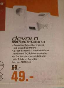 [Lokal Saturn Köln] Devolo dLAN 550 duo+ Starter Kit