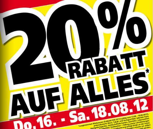 [LOKAL] Globus und Hela Baumärkte Saar/Pfalz - 20% Rabatt