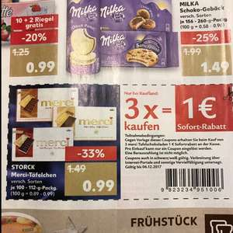 Merci-Täfelchen 3 Packungen je 112g