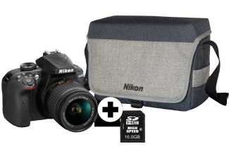[MM] Nikon D3400 + AF-P 18-55 + Tamron 70-300 + Tasche + 16GB + 50,- Cashback