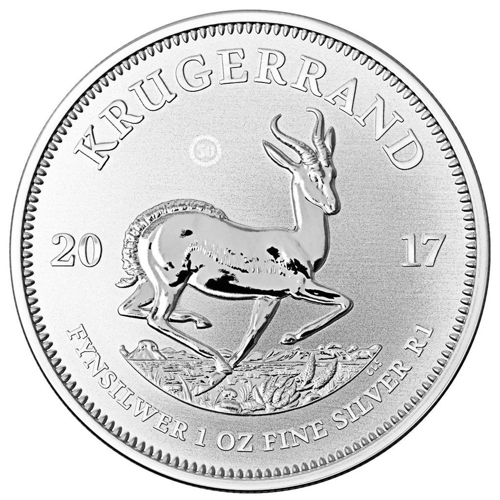 25 x 1 Oz Silber Krügerrand 2017 inkl. Zertifikat, limitierte Auflage (alternativ 27€ pro Stück)
