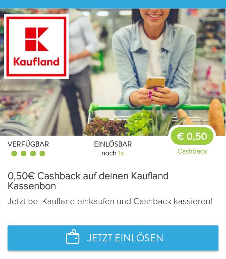 (Marktguru App) 0,50€ Cashback auf einen Kaufland Bon ab 0,51€