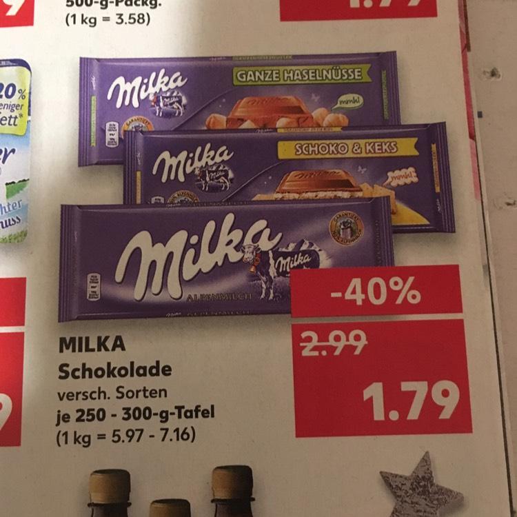 Milka 300g Tafel bei Kaufland (lokal?) für 1,79€