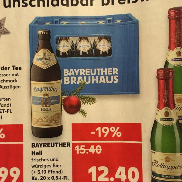 Bayreuther Helles Bier bei Kaufland