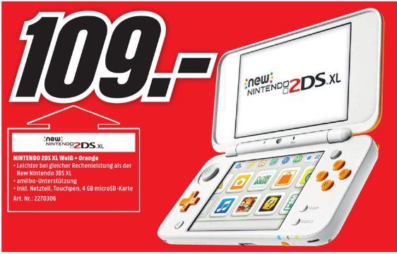 [Regional Mediamarkt Straubing] New Nintendo 2DS XL Weiß + Orange für 109,-€
