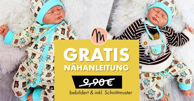 Makerist - Nähanleitung und Schnittmuster Basic-Schnitte Babykleidung (kostenlos)