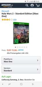 Halo Wars 2  (Xbox One), Amazon (Prime)