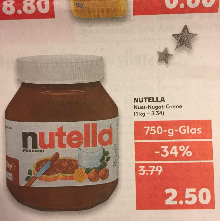 [Lokal Kaufland Herford] Nutella 750g