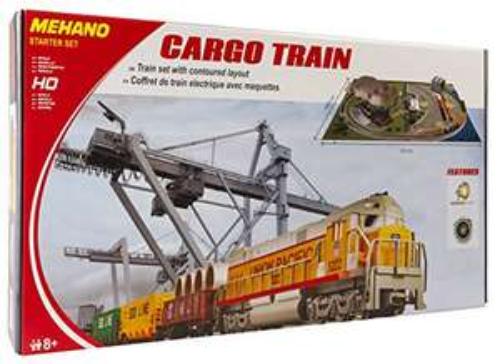 """[Amazon] Mehano T113 Güterzug mit Layout - Elektrische Eisenbahn , Spur H0, mit """"Industrial Passage"""""""