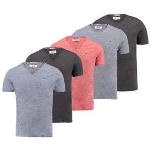 Tommy Jeans Herren T-Shirt Rundhals oder V-Neck NEU S M L XL 2XL Hilfiger Denim