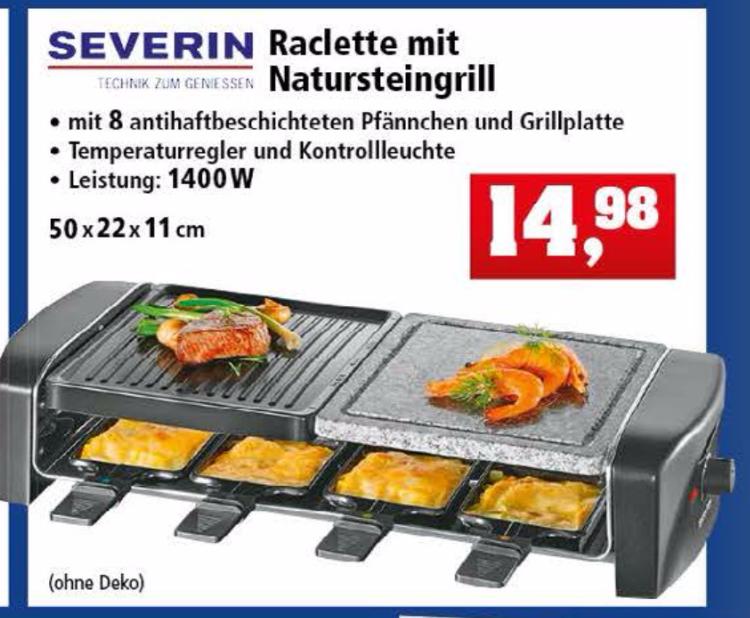 [Thomas Philipps ab 04.12] Raclette - Severin RG 9645 -Inkl. 8 Pfännchen