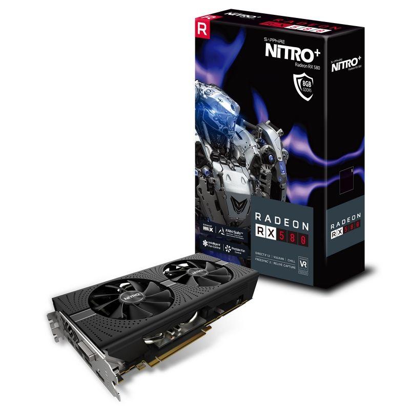 Sapphire Radeon RX 580 NITRO+ 8GB GDDR5 VSK Frei