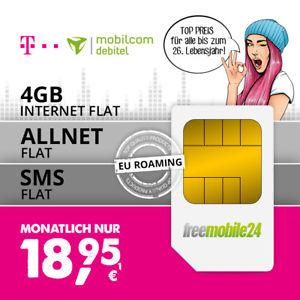 Telekom Allnet Flat LTE 4GB Young oder 1GB normal über Mobilcom Debitel
