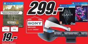 Media Markt on/-offline: PlayStation VR + Camera + VR Worlds + Skyrim für 299,00 €