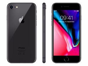 iPhone 8, 64 GB (schwarz/gold)