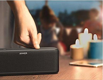 Anker SoundCore Boost 20W Bluetooth Lautsprecher mit BassUp Technologie, 12 Std. Spielzeit, IPX5 Wasserfest [Amazon.fr]