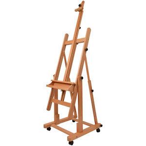 Artina Profi Atelierstaffelei Verona als Studio-Staffelei auf 4 Rollen, massive Holzstaffelei für Keilrahmen bis 210 cm ebay.de