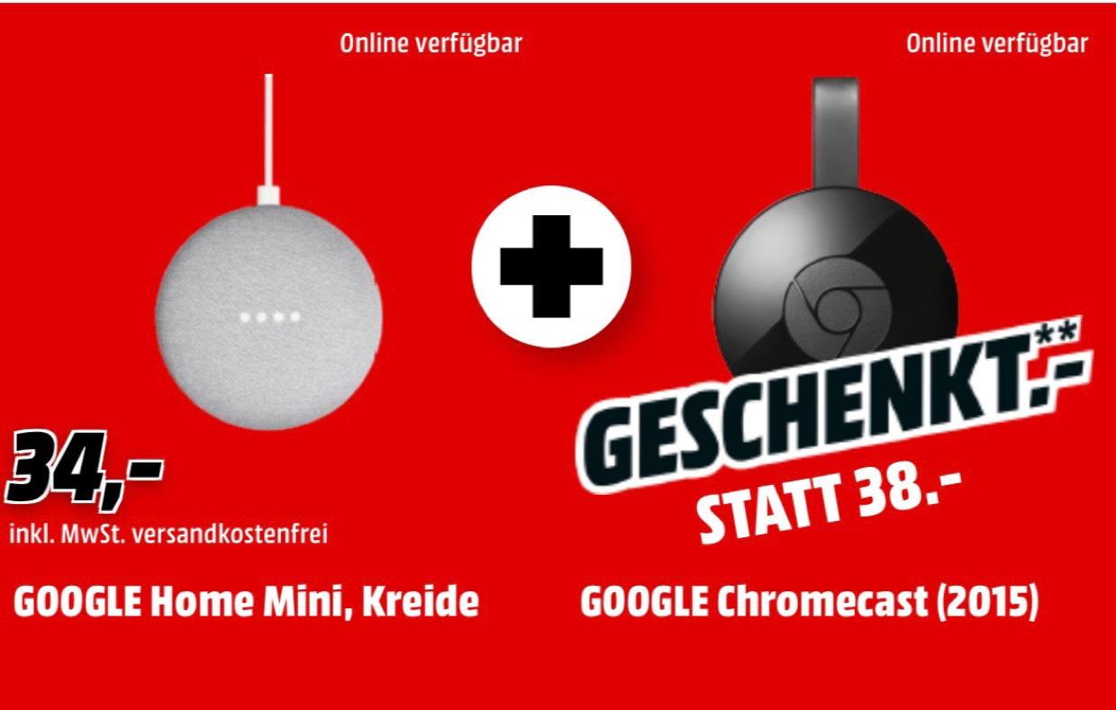 Google Home Mini mit gratis Google Chromecast 2015