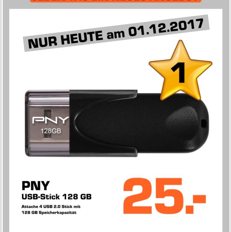 Lokal Saturn Münster Arkaden // PNY 128 GB USB Stick für 25€