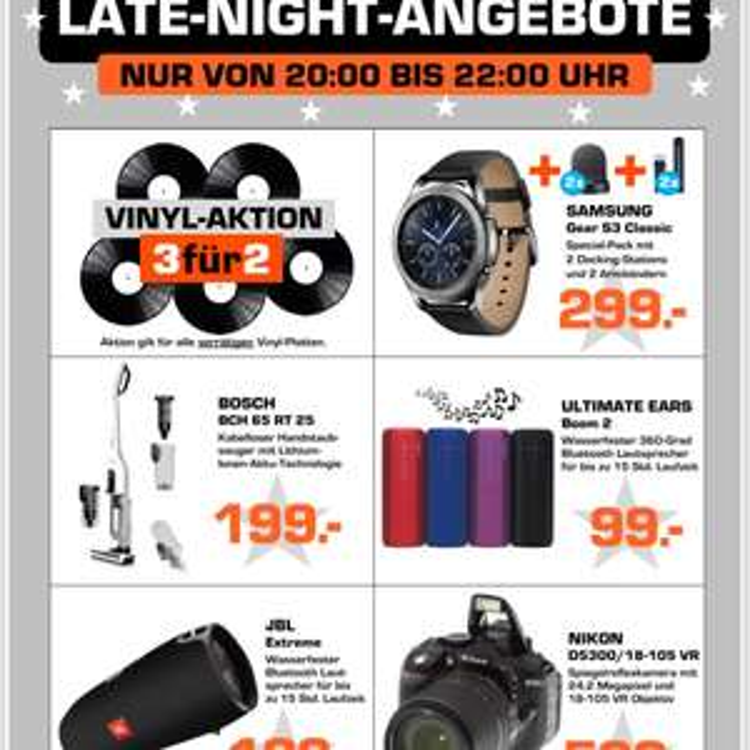Late Night Angebote im Saturn Münster 20.00 - 22.00 Uhr