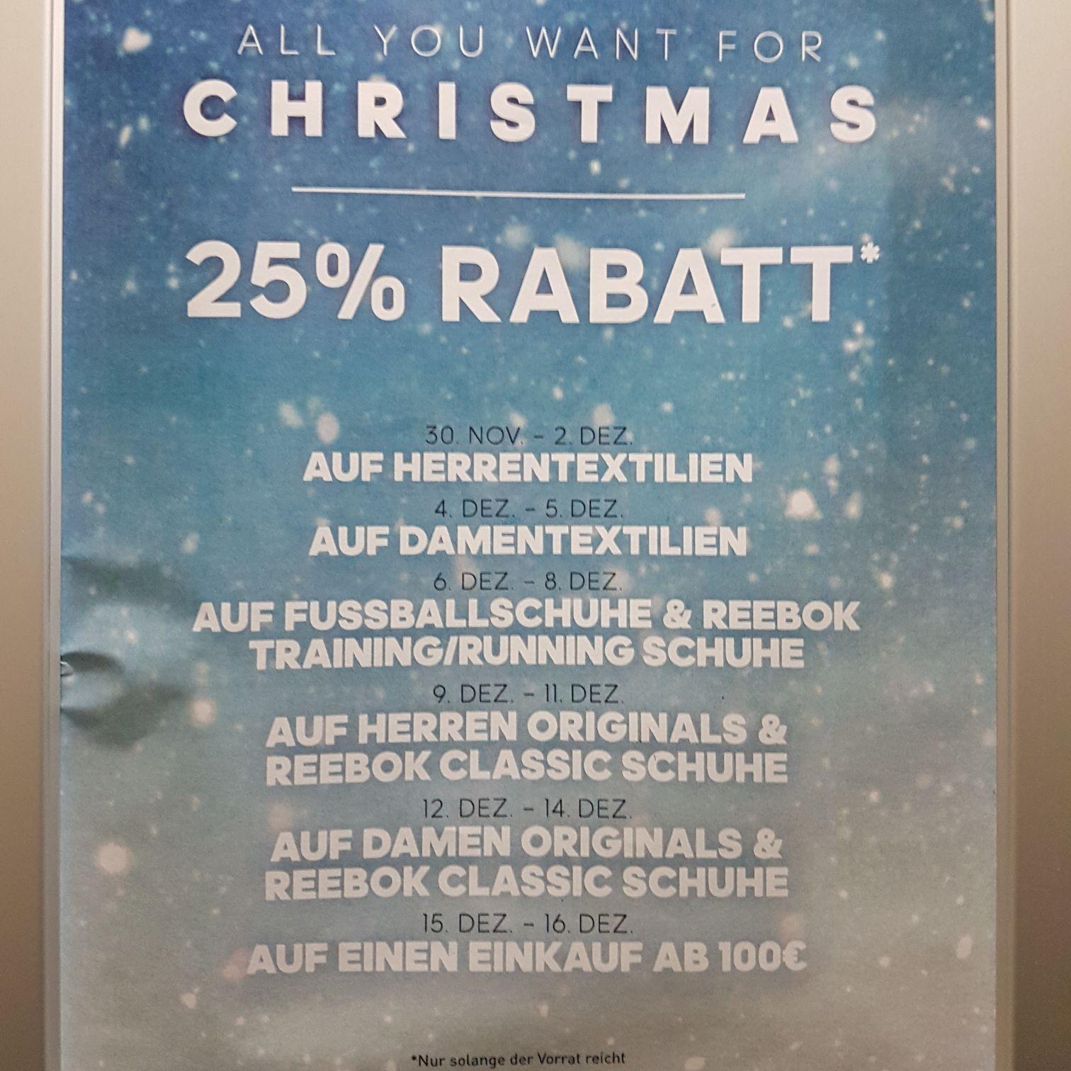 Adidas Outlet Store 25%-Aktionen [Herzogenaurach]