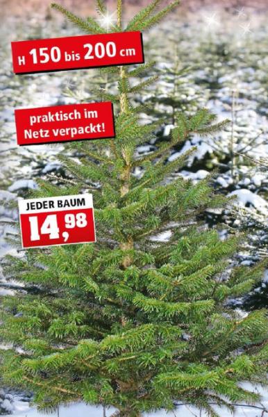[Thomas Philipps] Nordmanntanne 150-200cm für 14,98€ ab 04.12.2017