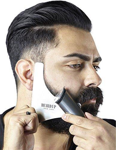 Bartschablone aus Edelstahl